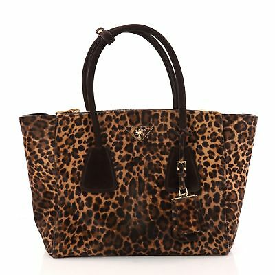 4bfe0631ea7d2b PRADA TWIN POCKET Tote Glace Calf Small - $800.00 | PicClick