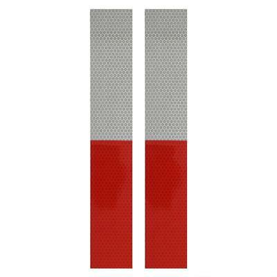2 Pcs Reflective Red/White Reflex Foil Tape Warning Markings Signal