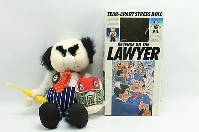 Vintage Revenge on the Lawyer Tear Apart Stress Reliever Doll Gag Gift