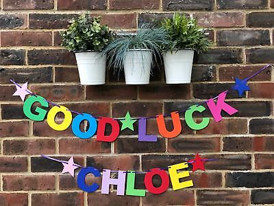 Personalised Good luck banner Retirement New Job Congratulations New Home