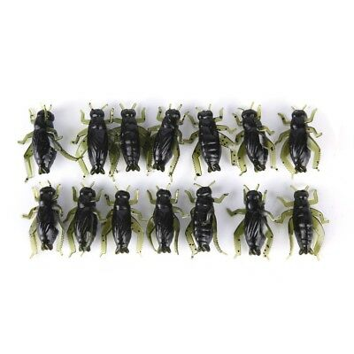 20X Soft Fishing Lures Pesca Lightweight Cricket Insect Lure Simulation Baits EC