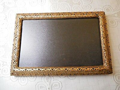 Gold Filligreed Metal Frame or Tray
