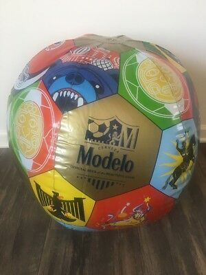Lot Of 2 Modelo Cerveza Especial Beer Soccerball Inflatable