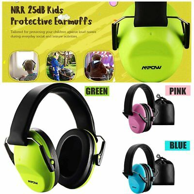AU MPOW Foldable Children Kids Ear Muff Hearing Protection Loud Noise Reduction