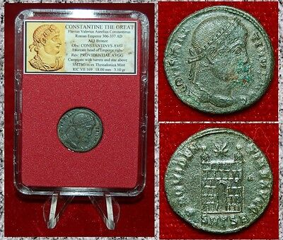 Ancient Roman Empire Coin Of CONSTANTINE THE GREAT Campgate On Reverse