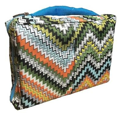 Blue Handle Chevron Bible Cover/Carrying Case