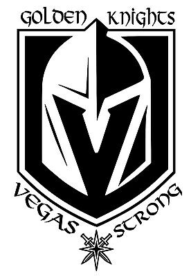 8fb1e4dfec9 Las Vegas Golden Knights NHL Team Logo Decal Stickers Hockey VegasStrong  Edition