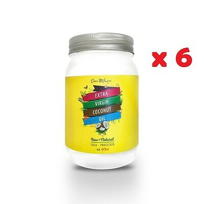 (STOCK CLEARANCE) Coco Milagro Extra Virgin Coconut Oil 475ml, Pack of 6
