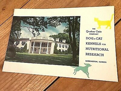 1960 Quaker Oats Co. Dog & Cat Kennels Research Booklet - Barrington Ill.