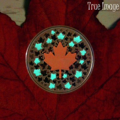 2018 - Hearts Aglow - 1/4 oz $5 Glow-In-The-Dark Pure Silver Coin - Canada