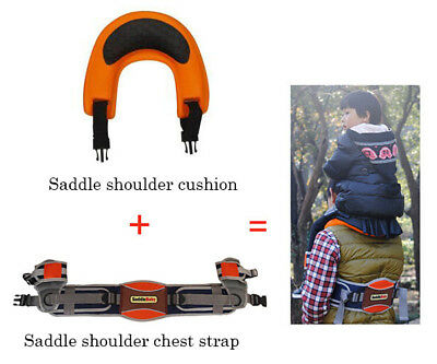 Dad Hands-Free Shoulder Carrier Padded Seat For Kids Child Hiking Camping Travel