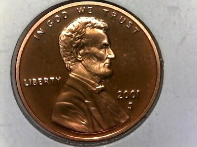 2001 S Lincoln Memorial Cent - UNCirculated Red - PROOF