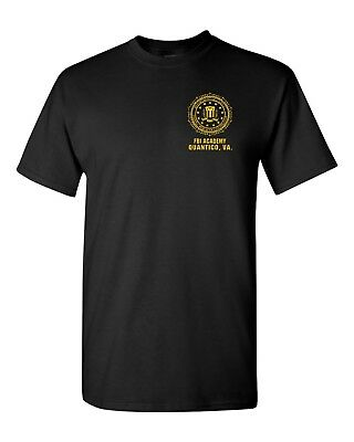 FBI F.B.I Academy Quantico VA Virginia Men's Tee Shirt 1805