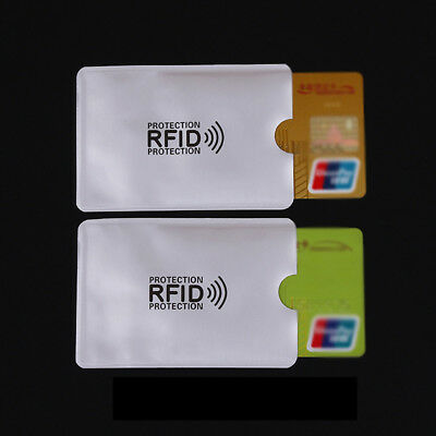 5 x RFID Secure Sleeve Credit Card Case Holder Blocking Protector Anti Theft
