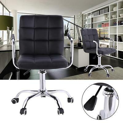 office computer chair black leather adjustable swivel armchair used