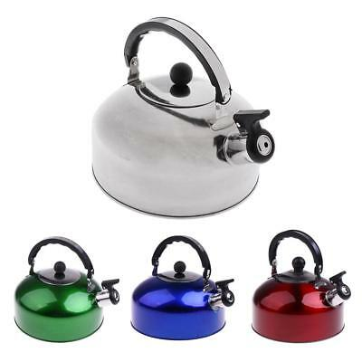 Stainless Steel Stove Top Camping Fishing Whistling Kettle Tea Pot 4L 5L