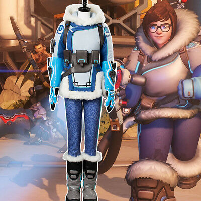 Game OW Overwatch Mei Ling Zhou Whole Set Cosplay Costume Overwatch Uniform Suit