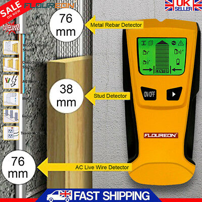 3-in-1 Multi Detector Stud Center Finder Metal AC Live Cable Wire Scanner Tester