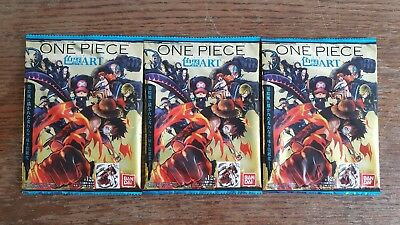 One Piece Film Gold Set of 3 Official Shikishi boosters NEW UNOPENED