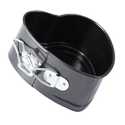 Mini 4 inch Metal Springform Heart Shape Cake Baking Tin Pan Non Stick