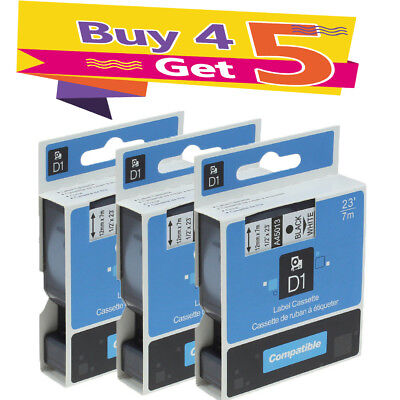 3PK Compatible for DYMO D1 Label Tape 45013 (S0720530) LabelManager LabelPoint