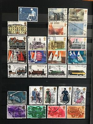 1975 Gb Full Used Year sets commemorative 8 stamps sets