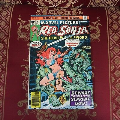 Marvel Feature presents Red Sonja #6 September 1976 Bagged Marvel Comic