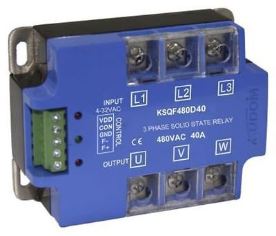 Kudom 40 A Solid State Relay, Zero Cross, Panel Mount SCR, 530 V ac Maximum Load