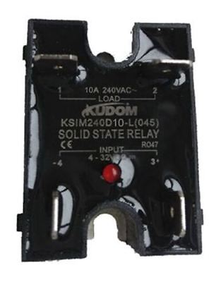Kudom 10 A Solid State Relay, Zero Cross, Panel Mount Triac, 280 V ac Maximum Lo