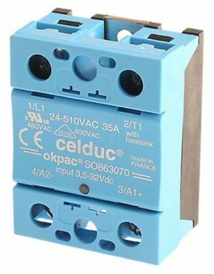Celduc 40 A Solid State Relay, Zero Crossing, Chassis Mount Triac, 510 V rms Max