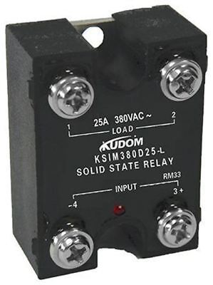 Kudom 25 A Solid State Relay, Zero Cross, Panel Mount Triac, 440 V ac Maximum Lo