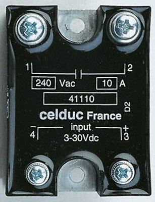 Celduc 12 A Solid State Relay, Zero Crossing, Chassis Mount Triac, 280 V rms Max