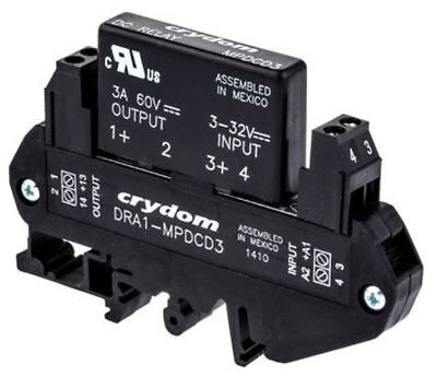 Sensata / Crydom 3 A SPNO Solid State Relay, DC, DIN Rail, 60 V Maximum Load