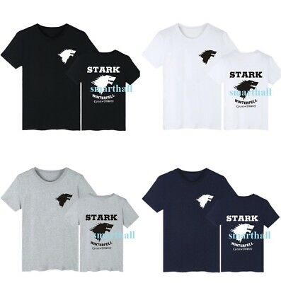 Game of Thrones Stark Winter Is Coming Black Top Tees Men Cotton T-Shirts