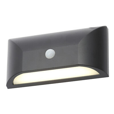 Truro LED Rectangular Wall Light PIR Sensor Modern Outdoor Light Black Litecraft