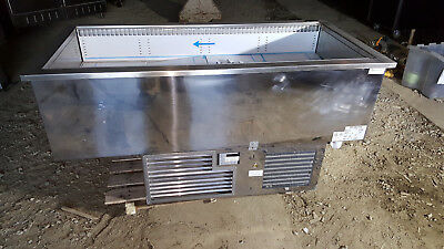 RPI Drop In 4 Pan Unit Countertop Refrigerated Cooler Salad Bar Cold Food Buffet