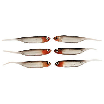 6 SF Needle tail Soft Lures Fishing Trout Shad Bait Drop Shot Swimbait