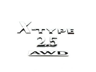 2004 Jaguar X-Type 2.5 Awd Rear Emblem Logo Badge Set Oem 02 03 04 05 06 07 08