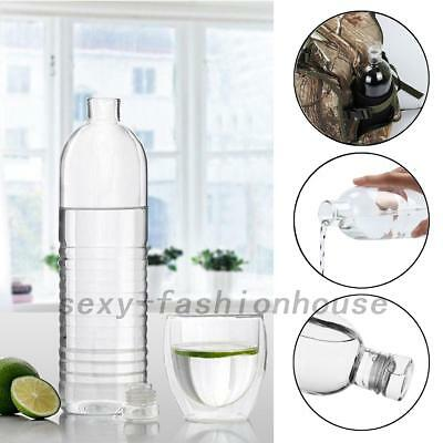 Sports Glass Bottle Juice Cold Hot Water Drink Bottle Camping Cycling Hiking AU