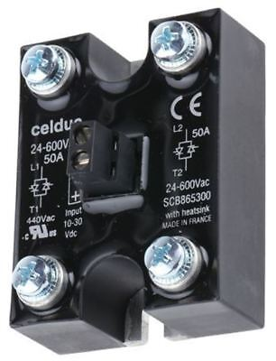 Celduc 50 A Solid State Relay, Zero Crossing, Chassis Mount, 600 V ac Maximum Lo