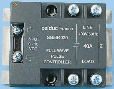 Celduc 40 A Solid State Relay, Chassis Mount Triac, 400 V ac Maximum Load