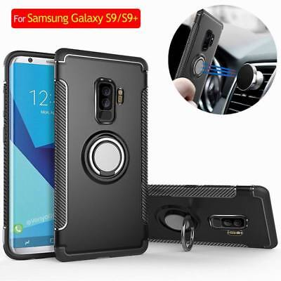 For Samsung Galaxy S10 S9 Plus S8 Shockproof Hybrid Ring Holder Hard Stand Case