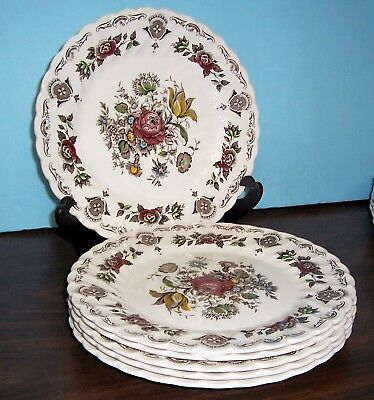 """Lot 6 Myott Banquet Dinner Plates 10""""  Never Used Free Us Shipping Made England"""