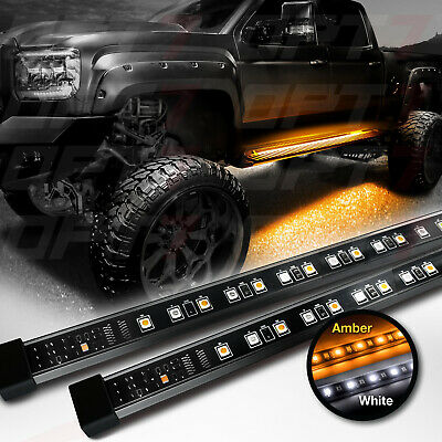 "OPT7 48-60"" Side Running Board LED Light Strips - Amber Turn Signal DRL Courtesy"