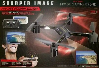 Sharper Image Dx 4 Fpv Streaming Drone W Vr Headset Brand New
