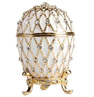 Gold Netting Faberge Egg Replica Made in Russia Jewelry Box Gift Box