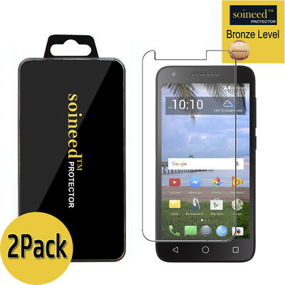2 Pack SOINEED Alcatel Raven LTE Tracfone A574BL Tempered Glass Screen Protector