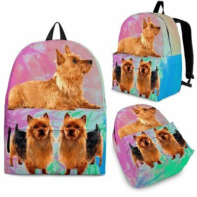 Australian Terrier Dog Print Backpack-Express Shipping