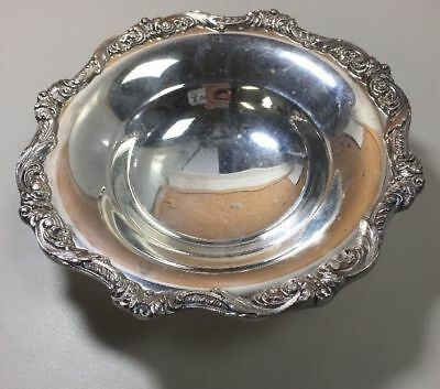 EPCA Old English by Poole Silver-plated Round Floral Rim Footed Bowl