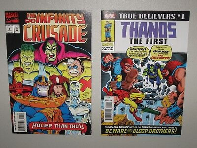 The Infinity Crusade #4 NM+ (9.6) in MYLAR! + THANOS The First reprint 10 HD pix